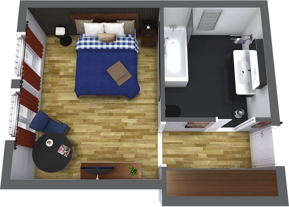 arrange furniture