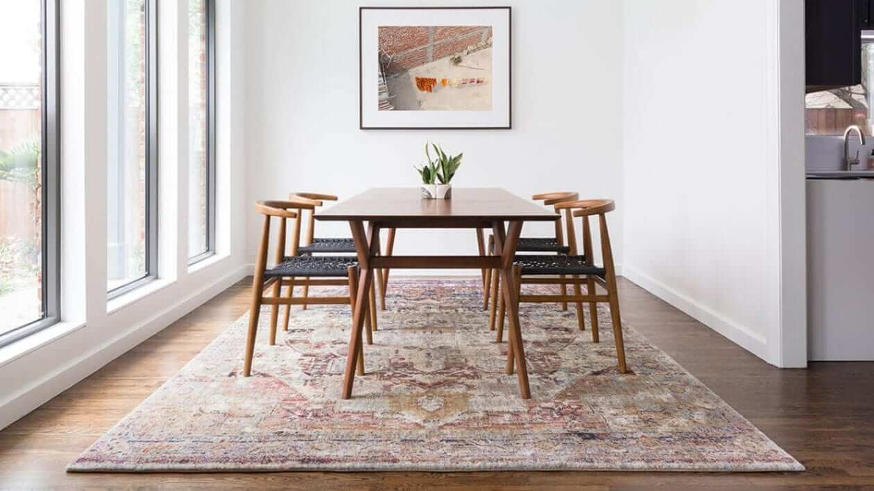 Protect floor with area rugs
