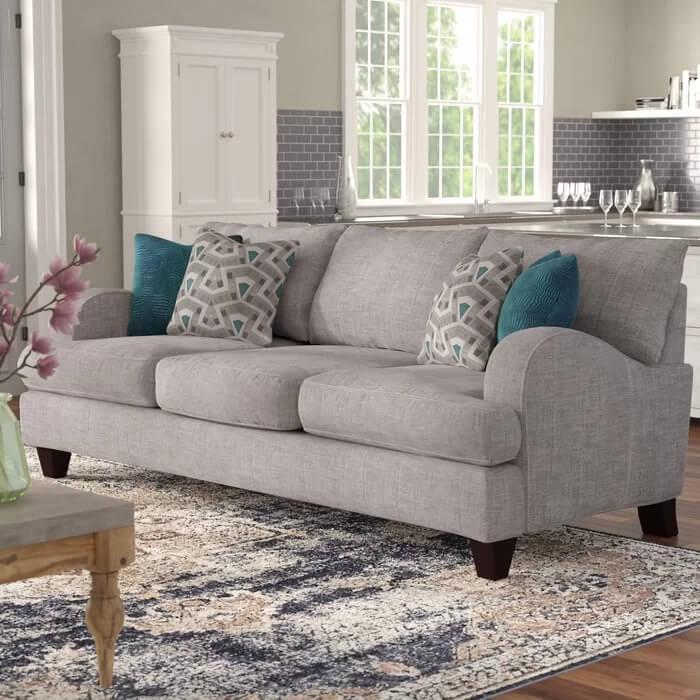 Rosalie 9322 Recessed Arm Sofa (1)