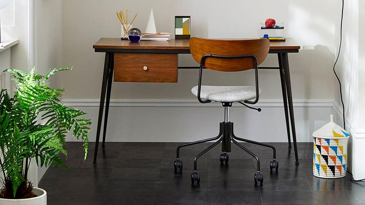 Computer and desk chairs