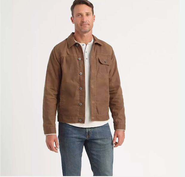Huckberry Waxed Trucker Jacket