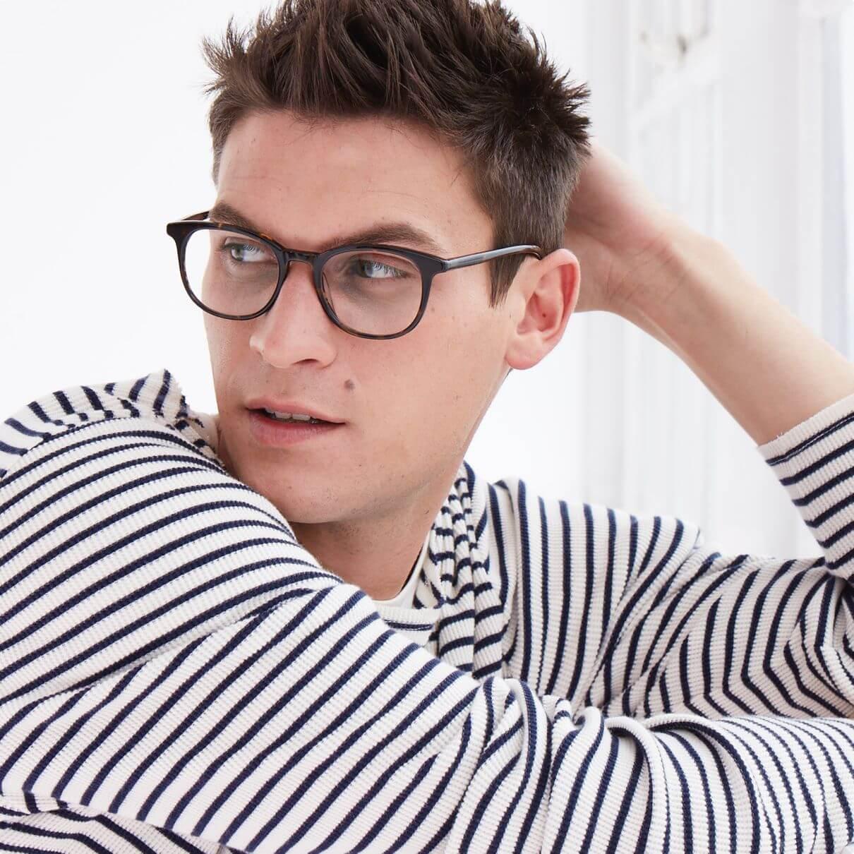 Warby Parker light-responsive lenses indoor